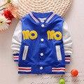 2016 nueva primavera otoño Bebés Bebés Niños niñas Niños Chirldren Chaquetas Carta Cardigan Outwear