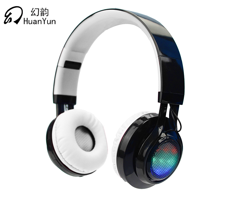 HuanYun Earphone Headphone Bluetooth Wireless Sport Headset Stereo Bass casque earphones with Mic LED light SD