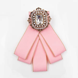 Bow-Brooches Cindy Xiang Handmade Imported-Material Wedding-Party-Accessories Vintage