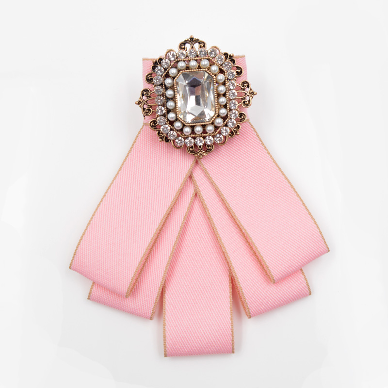 CINDY XIANG Vintage Fabric Handmade Bow Brooches for Women Neck Tie Imported Material Wedding Party Accessories High Quality