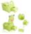 Assento de Plástico Higiênico Potty Do Bebê dos desenhos animados Meninas Menino Penico Portátil Cadeira Dobrável Sapo Bonito Gaveta Higiênico Treinamento Potty infantil