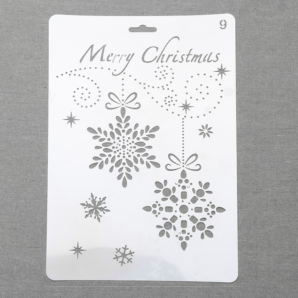DIY Craft Scrapbooking PaintingTemplate Merry Christmas Layering Stencils