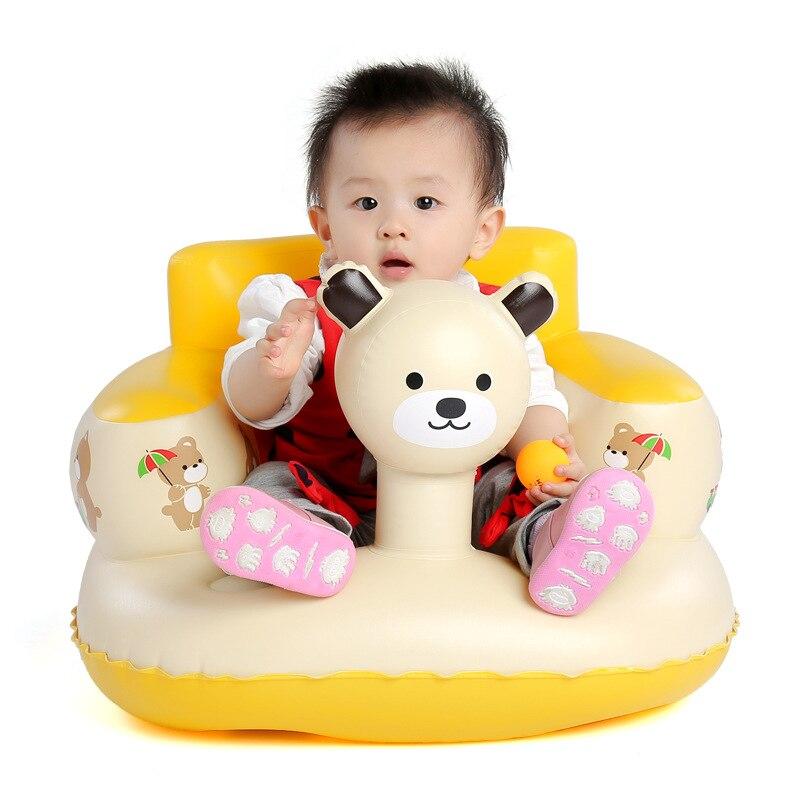 Catoon Bär Aufblasbare Baby Stuhl Bad Stühle Tragbare Kinder Sitz Kinder Fütterung Lernen, Sitzen Spielen Wasser Spiele Bad Sofa