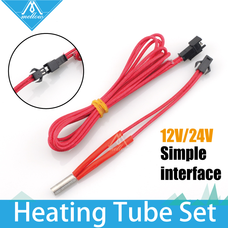 3D Printer Makerb/Reprap/Mendel Heating Tube Reprap 12V/24V 40W Simple replace Ceramic Cartridge Heater HotEnd J-Head 6*20/15/30 3d printer parts single head spray nozzle heating tube electric heating tube 12v 30w 24v 40w 6 20mm heating rod