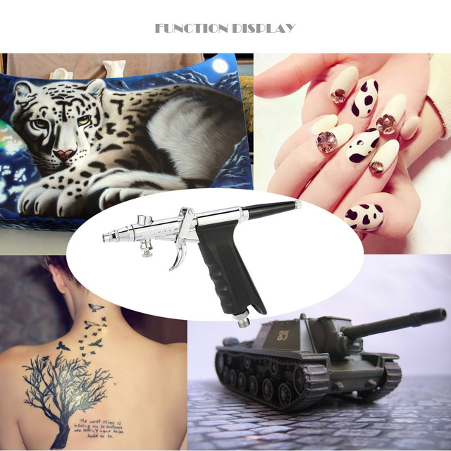 3 Tips/Cups body Paint Spray Model for Nail Tattoo Double-Action Spray Gun Airbrush compressor Kit Air Brush Set aerografo