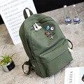 Mulheres mochila de lona impressão mochilas novo estilo de moda bonito sacos de viagem laptop mochila para adolescente meninas