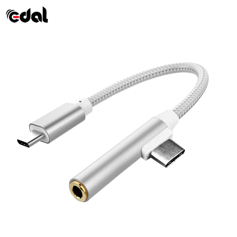 New USB Type-C Audio Charging Cable For Letv Xiaomi 6 phone LeEco Le 2 pro Max2 Type C to 3.5 Earphone audio cable Adapter