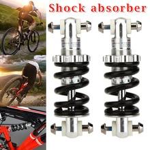 все цены на 1 Pair Durable Downhill MTB Bike Bicycle Metal Rear Suspension Spring Shock Absorber Bicycle Parts Mountian Bike Rear Shocks онлайн