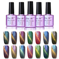 Beau Gel 3D Nails Gel Polish Cat Eye Chameleon Phantom Color Gel Varnish Nail Polish UV Magnet Chameleon Gel Lacquer 10ML/PCS