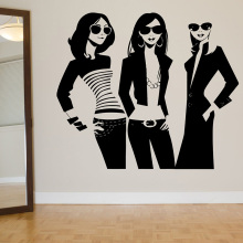 YOYOYU Beatuy Shopping Girl Vinyl Wall Sticker Trending Beauty Salon Removable Decal Livingroom Bedroom Decoration ZX334