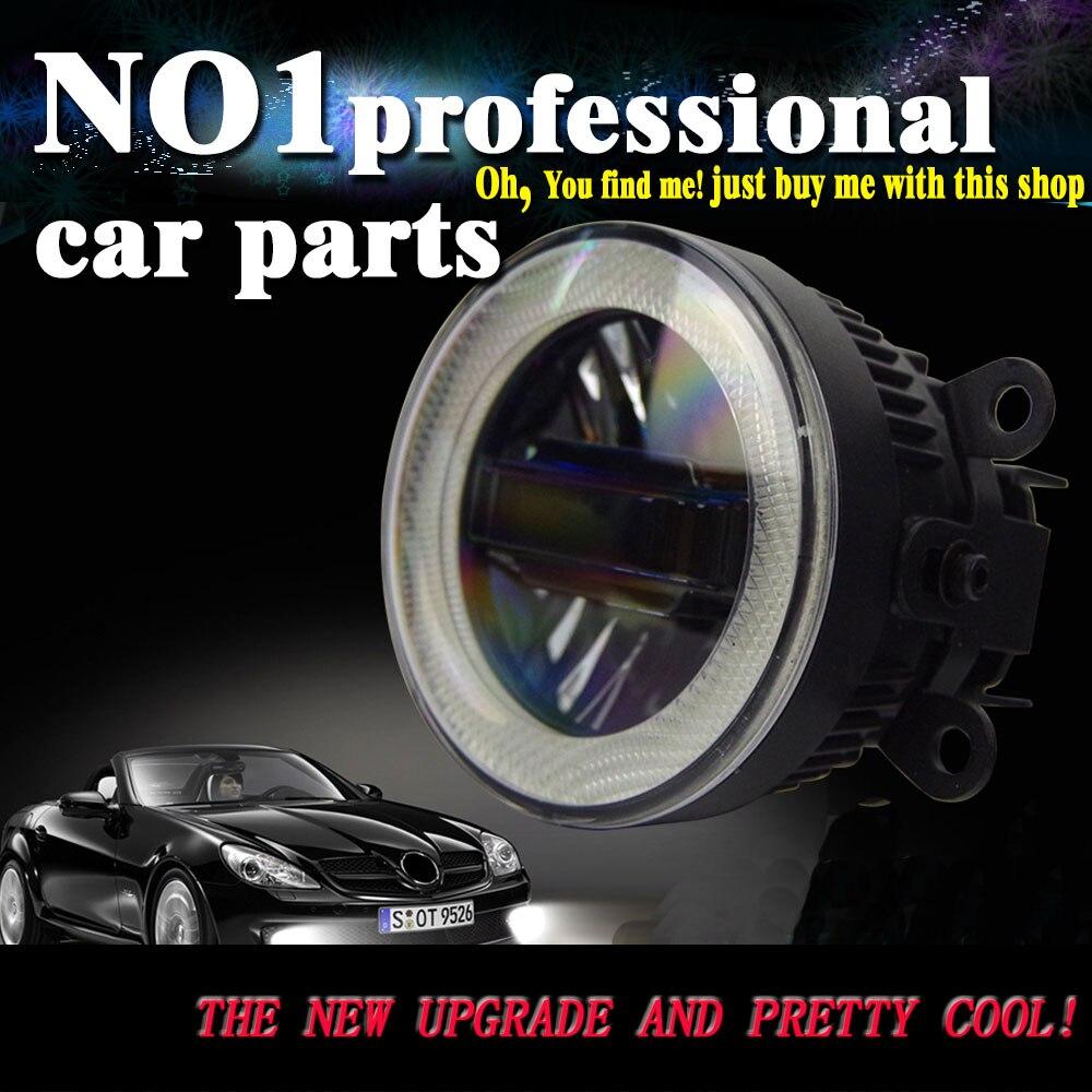 Car styling daytime running light for ford explorer led fog light auto angel eye fog lamp