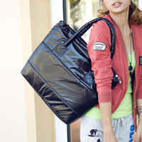 2019 Fashion Women Single Shoulder Bag Tote Space Pad Cotton Feather Down Handbag Bolsa Feminina Bag Ladies Borsa Donna Tracolla