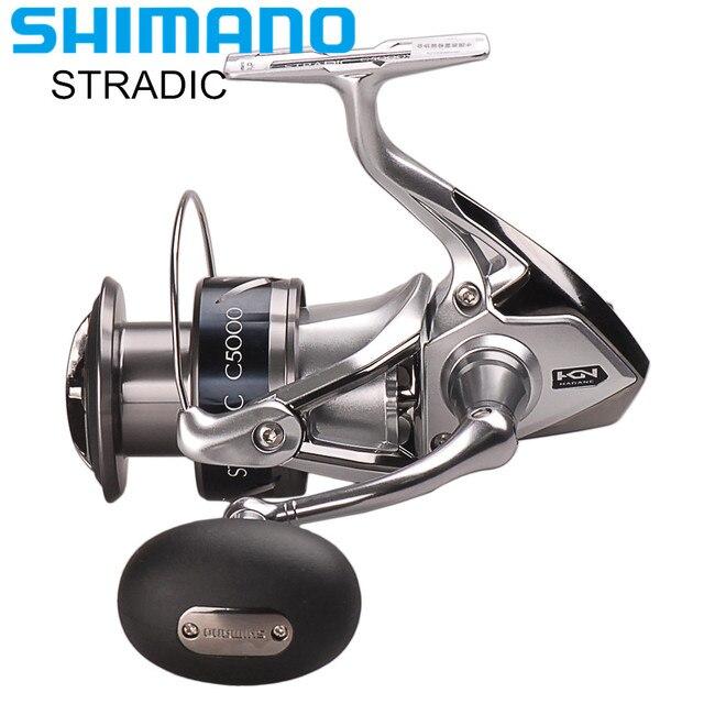 100% Shimano STRADIC FK 2500HG/C3000HG/4000XG/C5000XG Spinning Fishing Reel 6.0:1/6.2:1 HAGANE GEAR Carretilha Moulinet Peche