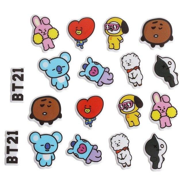 Aliexpress  Buy Kpop BT21 DIY Bubble Stickers 3D BTS EXO GOT 7