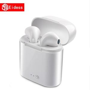 Беспроводные Bluetooth наушники I7s TWS 5,0, стереонаушники, гарнитура с зарядным боксом для xiaomi, всех планшетов, смартфонов