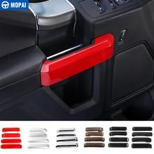 MOPAI ABS салона 4 двери внутренняя ручка украшения крышка отделка наклейки для Ford F150 2015 до стайлинга автомобилей