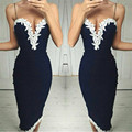 Sexy Sling summer dress 2016 New Arrivals fashion v-neck Lace Women dress