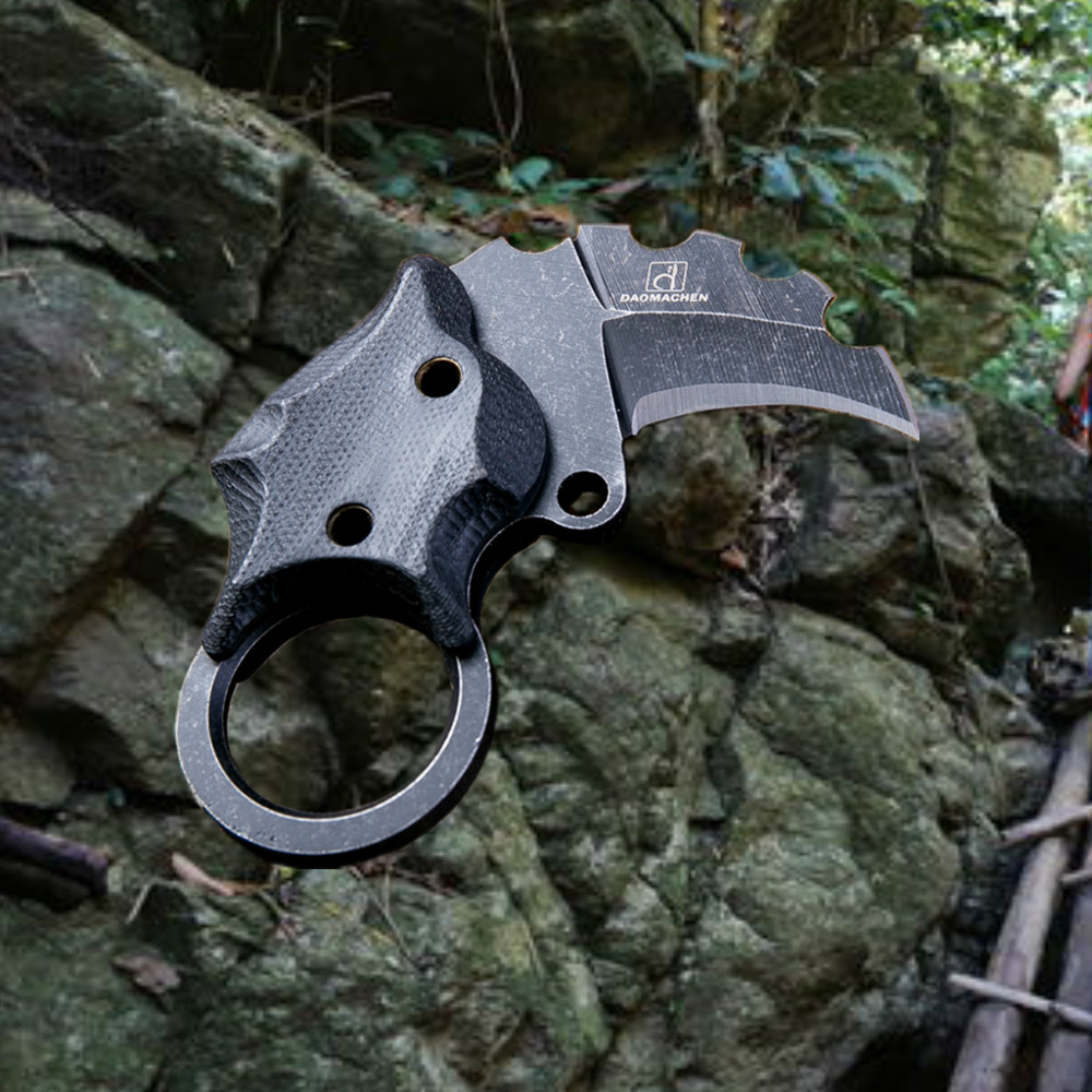 DAOMACHEN Mini karambit claw knife outdoor camping jungle survival battle portable collection hunting knives EDC