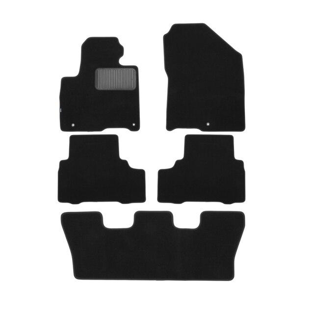 Коврики в салон для KIA Sorento Prime 2016->, внед., противоскользящий не боится грязи автомобильный коврик, 5 шт. (текстиль)