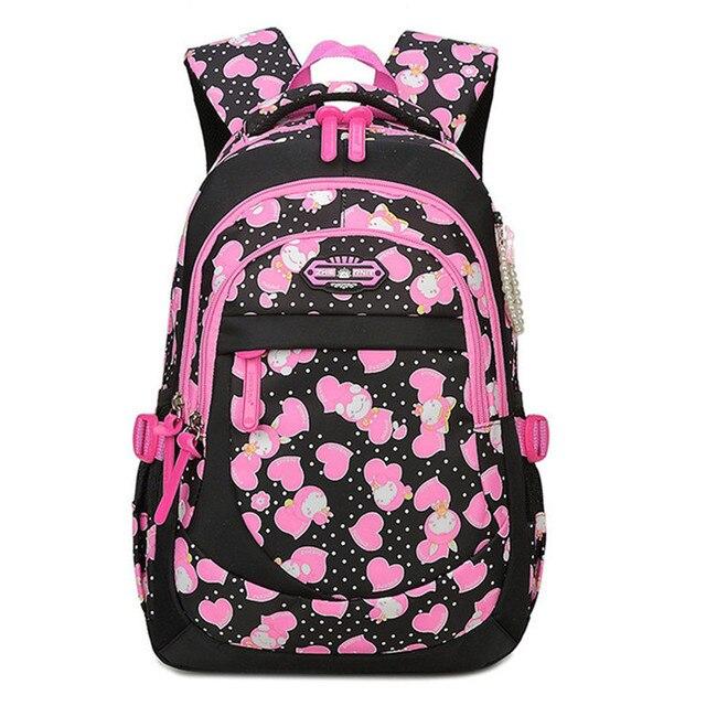 2019 Girls School Bag Waterproof Light Weight Kids Backpack Children  Printing Backpack Primary Bookbag for Girl mochilas d9f17f446505a