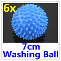 6 x Blue Washing Laundry Dryer Ball No Chemicals Soften Cloth Drying Fabric Softener Ball Cheap Price