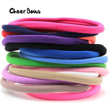 Spandex Nylon Headband DIY Hair Bands Solid Black Boutique Hairbands For Girls Women Head Accessories DIY Hairband Kids Children(China)