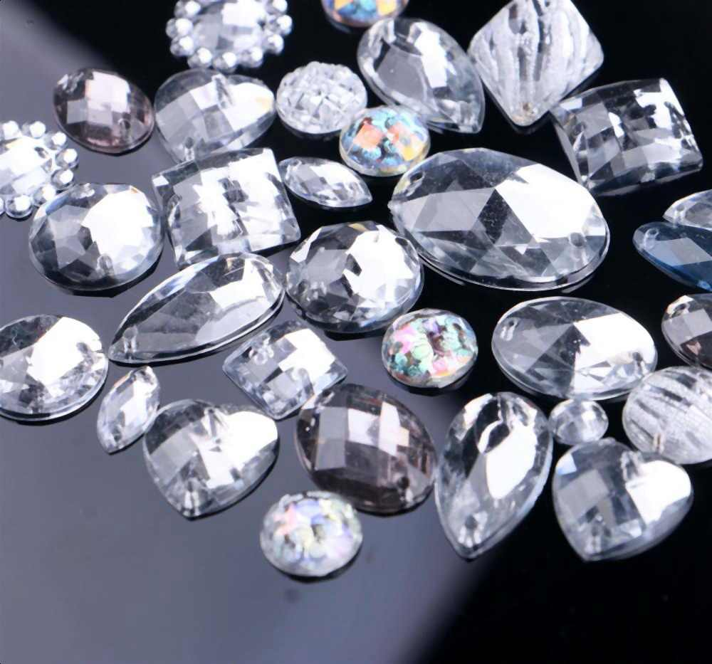 Mixed Shapes Mixed Colors Crystals Sew On Rhinestones Diamond Crystal  Acrylic Sewing Stones For DIY Decoration bd4ca9abf386