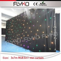Free shipping flashing leds best sell in aliexpress 10ft high by 23ft width led star curtain for wedding dj bar nightclub