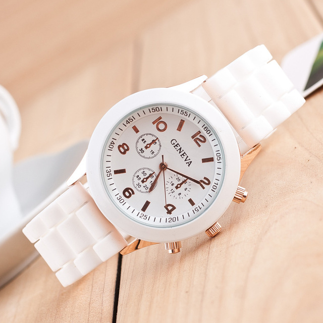 CAY Unisex Casual Geneva Quartz Watch Women Analog Silicone Sport Wrist Watches