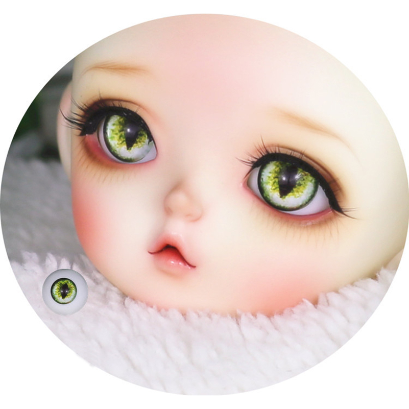 12mm 14mm 16mm 18mm Gradient Cat BJD Doll Eyes Black Pupil Cat Eyes Beast Pupil 1/3 1/4 1/6 Baby Born Eyeball Dolls Accessories [wamami] ew30 8mm light blue no pupil eyes for bjd dollfie glass eyes