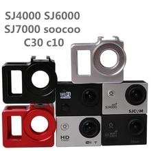 C30 Legering kooi Beschermende Behuizing Case Cover bag Metalen frame + UV filter voor SJCAM SJ4000 SJ5000 H9 H9R Sj9000 SOOCOO C3 Clownfish