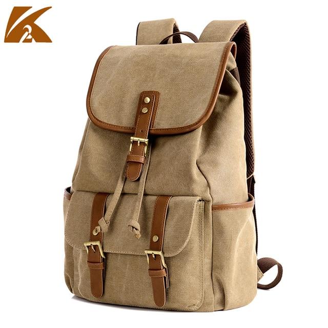 Handmade Backpack Computer Bag Mens Double Shoulder Bags Korean Brown Canvas Drawstring Character Book