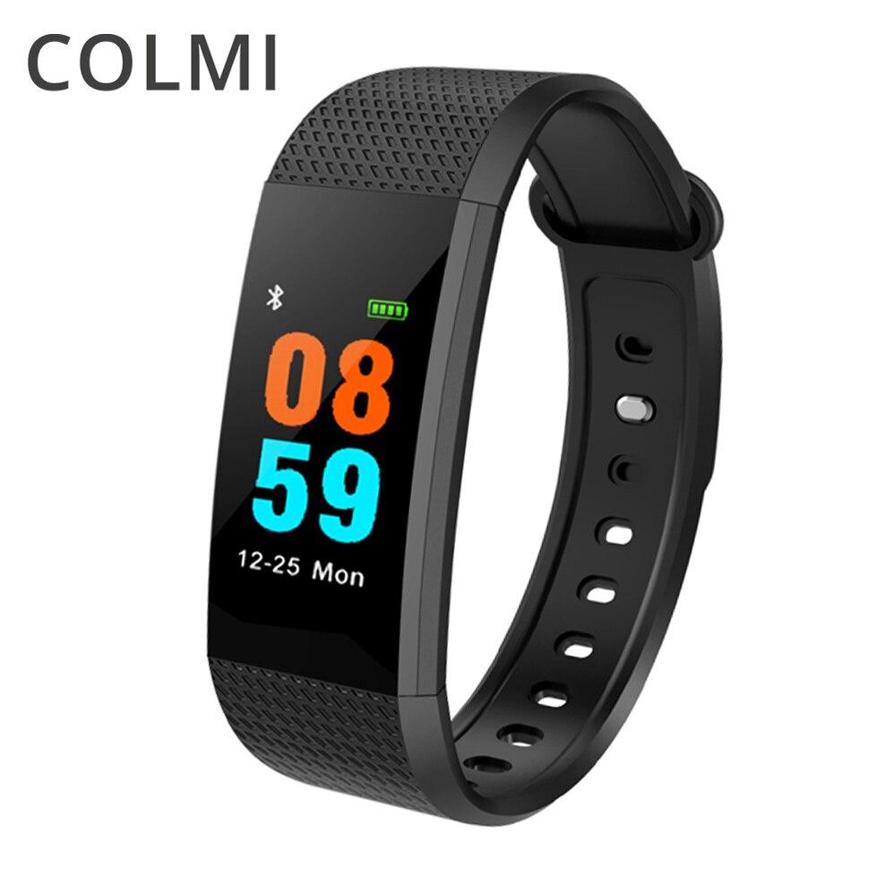 COLMI Smart Bracelet en temps Réel Surveillance de la Fréquence Cardiaque 5ATM Étanche pour Piscine Remise En Forme Tracker pour Android iOS
