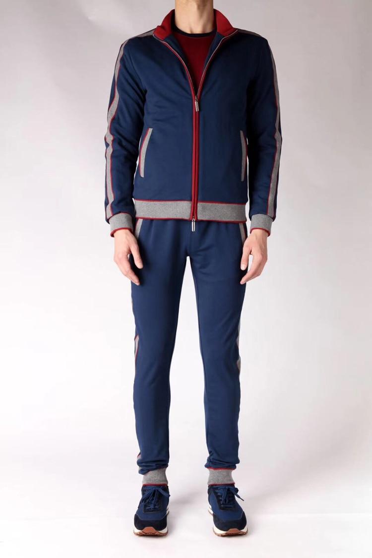 Миллиардер TACE & SHARK Спортивная Для мужчин 2018 Запуск Мода Комфорт лоскутное вышивкой комплект одежды M 4XL Бесплатная доставка