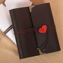 High-grade leather Hot heart shape diy handmade gift album Large size Pasting Types wedding photo