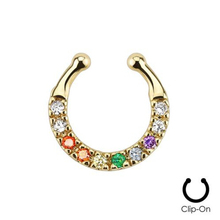 Jewelry Rushed Trendy Plant Plugs And Tunnels 3 Pcs 2015 New Fake Nose Ring Clip-on Pave Czs Septum Hanger Non-piercing Piercing