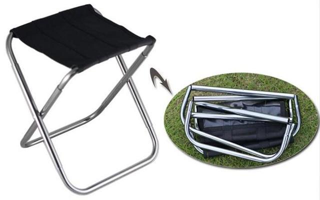 2017 Mais Novo Ao Ar Livre banquinho dobrável ultra-leve portátil forte acampamento de pesca tamborete cadeira cadeira de lazer MINI cadeira do tamborete de barra de alumínio