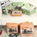 Nova Chegada Carros de Impressão Sacos de Viagem Saco De Armazenamento Portátil Dobrável 3 peças/set Nylon Malha Sorting Purse Organizer Bag