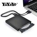 YiYaYo External DVD ROM Optical Drive USB 2.0 CD/DVD-ROM CD-RW Player Burner Slim Portable Reader Recorder Portatil for Laptop