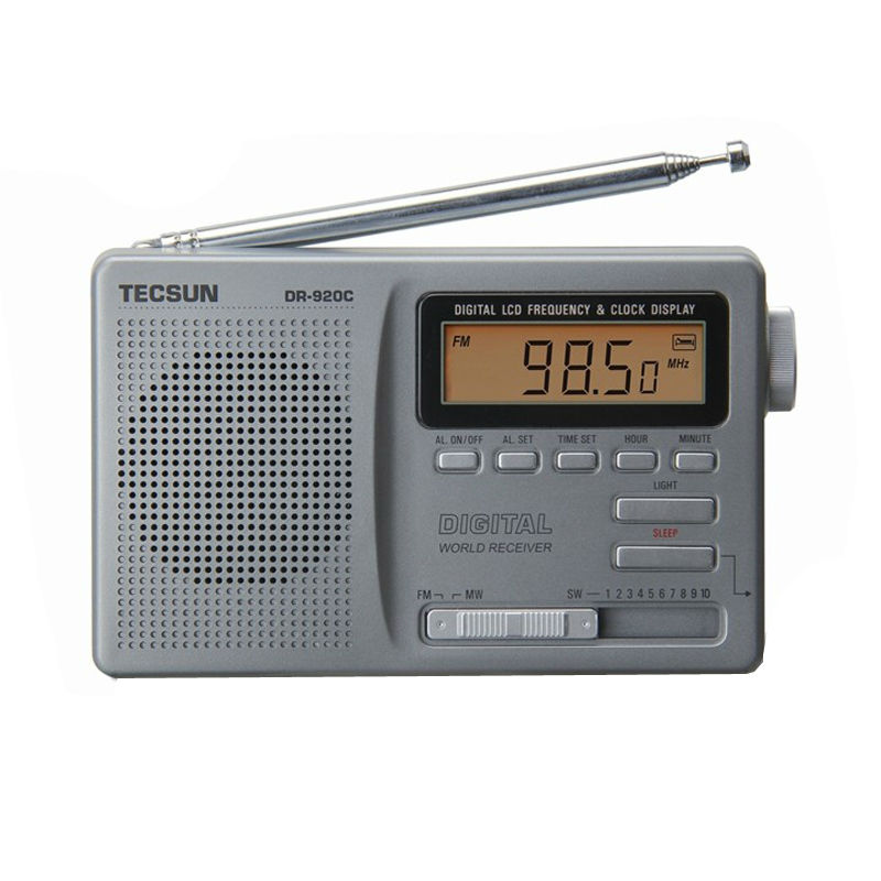 TECSUN DR-920C Display Digtal FM / MW / SW Rádio Multi Band DR920