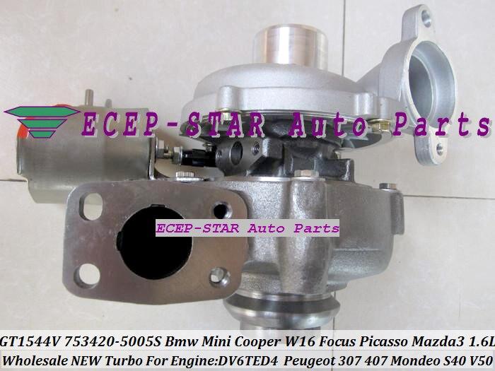 GT1544V 753420-5005S 753420 750030-0002 Turbo For Focus For Peugeot 307 407 V50 For CITROEN C4 C5 For Mini Cooper 1.6L DV6TED4