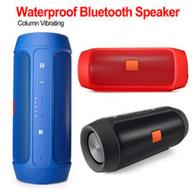 Portable Waterproof Outdoor HIFI Column Speaker Wireless Bluetooth Speaker Subwoofer Sound Bass Sound Boom Box with Mic(China)