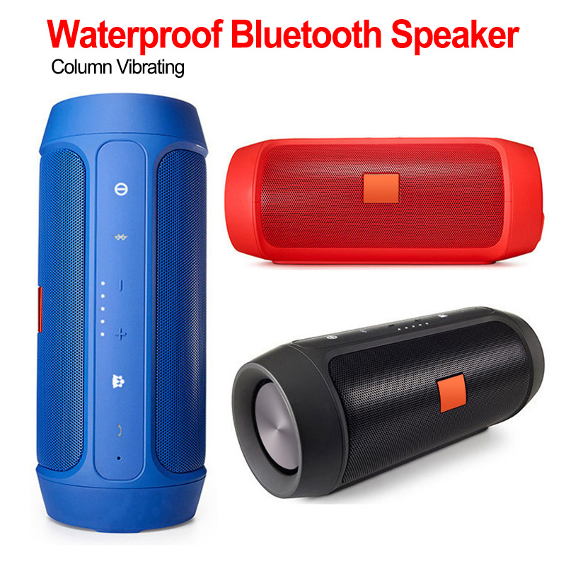 Portable Waterproof Outdoor HIFI Column <font><b>Speaker</b></font> Wireless Bluetooth <font><b>Speaker</b></font> Subwoofer Sound Bass Sound Boom Box with Mic image