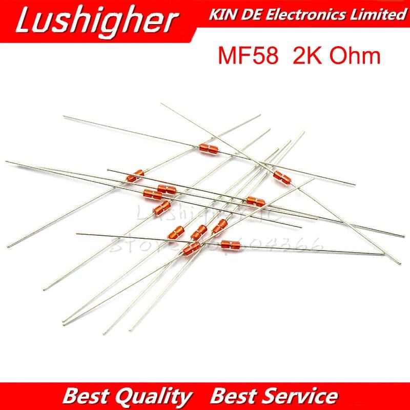 20Pcs 2K MF58 Thermal Resistor NTC MF58 3950 B 2K Ohm 5%