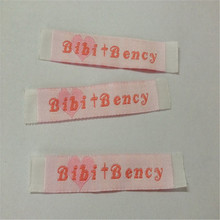 Factory Price Customized  Woven Label Clothing main label