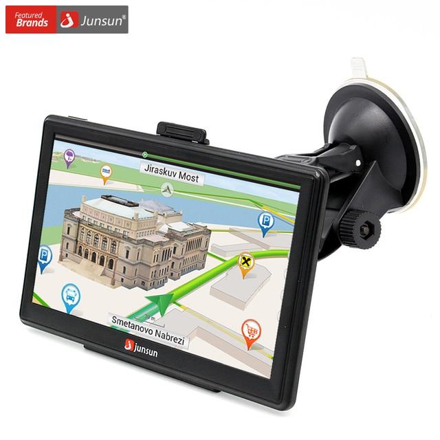 Junsun 7 inch HD Car GPS Navigation FM 8GB 256M DDR Navitel Map Free Upgrade Sat nav Automobile Gps Navigators