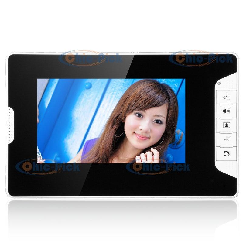 YobangSecurity 7-Inch LCD Video Doorbell Intercom Door Phone Camera System Kit with 1 Camera 1 Monitor