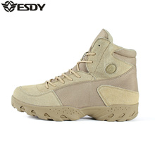Men's Outdoor Leather Desert Camouflage Military Combat Boots Men Army Tactical Hiking Boots Botas Hombre Coturnos Masculino
