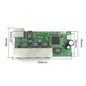 Image 2 - 5 port Gigabit schalter modul ist weit verbreitet in LED linie 5 port 10/100/100 0 m kontaktieren port mini schalter modul PCBA Motherboard