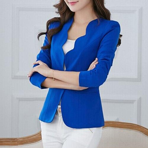 НОВАЯ Осень случайные куртки женщин slim с коротким дизайн костюма куртки офис женщины пальто одежда